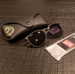 NWT Authentic RayBan Erika black Sunglasses womens